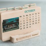 Medinių stalo kalendorių gamyba LSMU Erasmus+