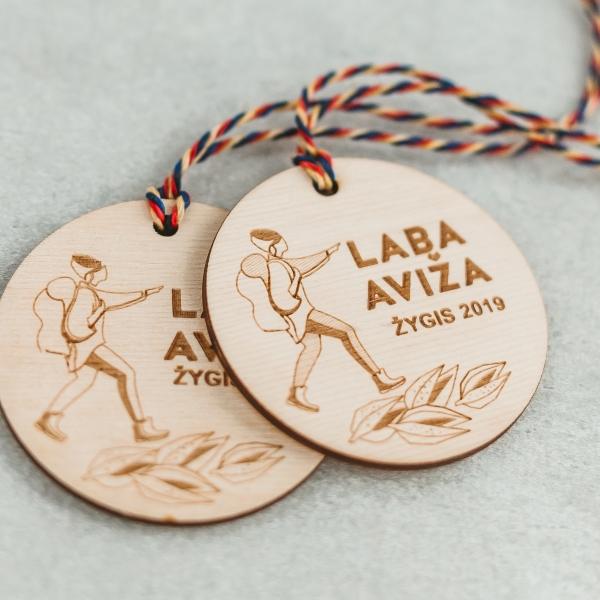 mediniai sporto medaliai žygio dalyviams