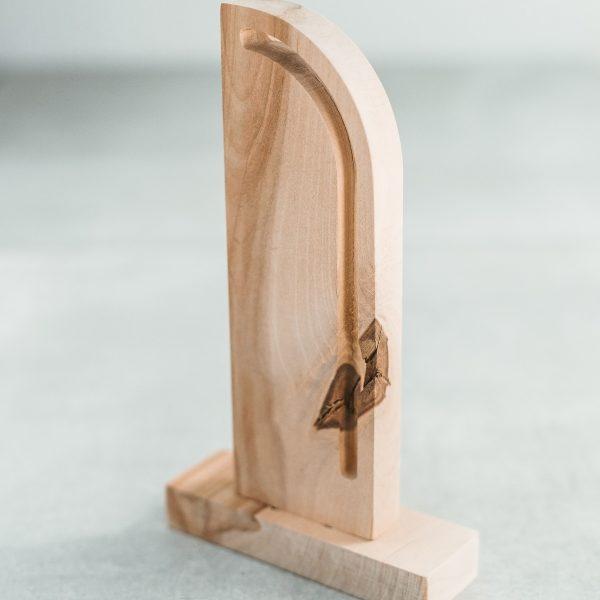 Medinė bėgimo taurė - apdovanojima