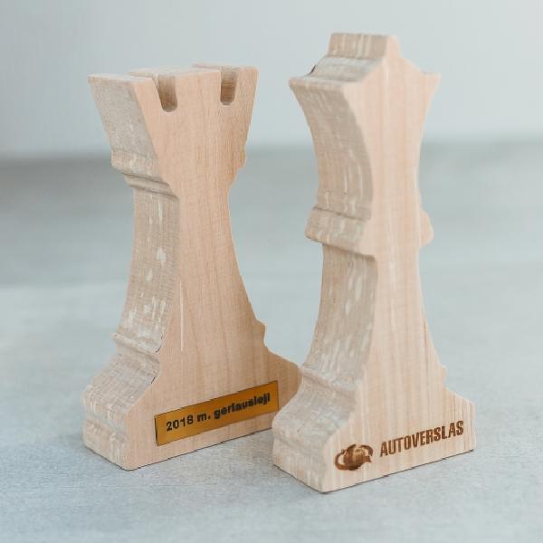 """Graviruotos taurės - apdovanojimai """"Šachmatai"""""""