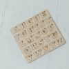 Graviruotos dovanos - lietuviška abėcėlė